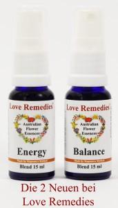 Blütenessenzen Blends Balance Energie